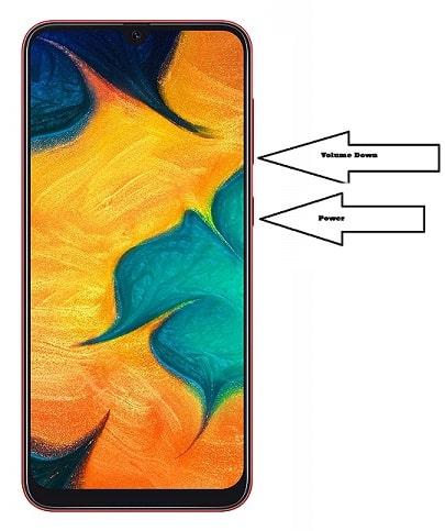 take screenshot in Samsung Galaxy A30